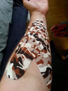 wrist, tape, sports, injury, treatment, kinesiology,